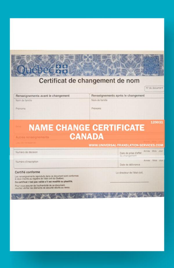 129031 name change canada