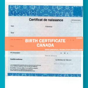 130502 birth certificate canada