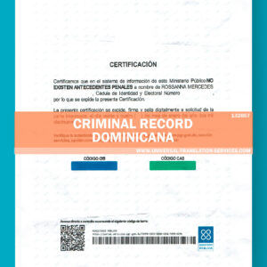 132857 -criminal record dominicana