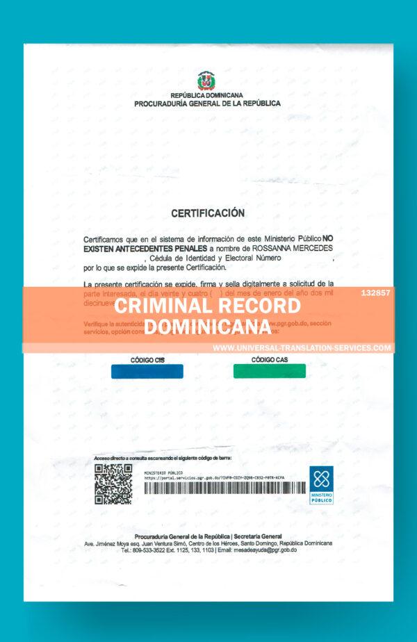 132857 -criminal record dominicana
