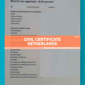 UTS193151-civil certificate netherlands