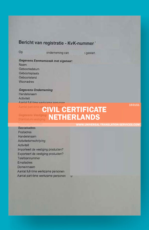 UTS193151-civil certificate netherlands