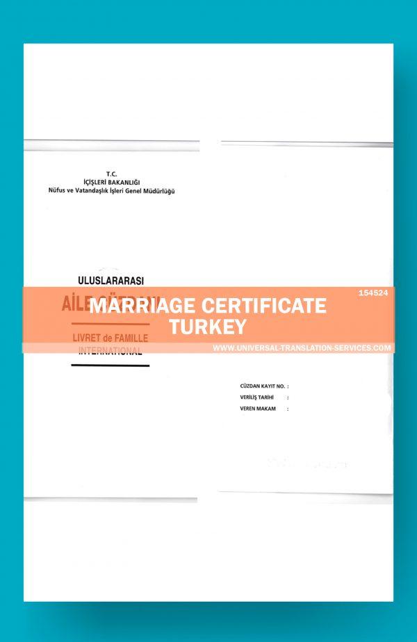 Marriage Certificate Turkey #154001-Turkey-Marriage-certificate-Source1